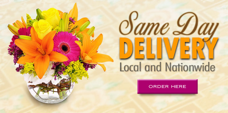 Bagoy's Florist deliveries same day across town or the USA.