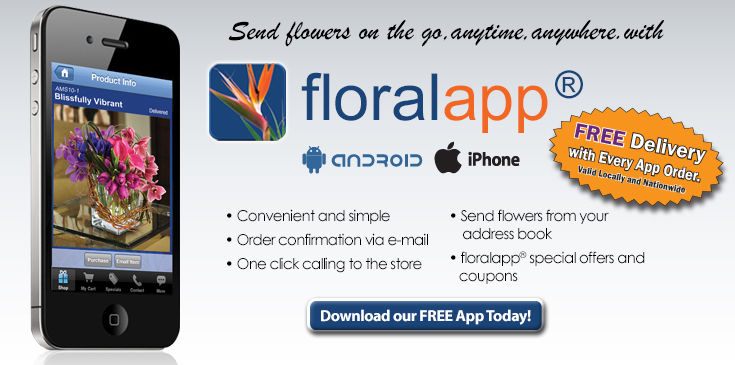 Download Bagoys Floralapp and receive FREE DELIVERY on every order
